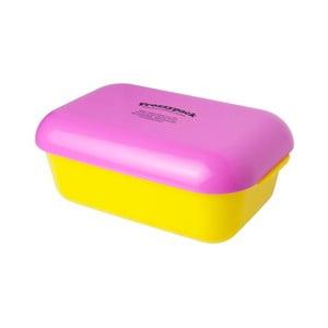 Pojemnik z wkładem chłodzącym Frozzypack Joyful Edition, yellow/cerise