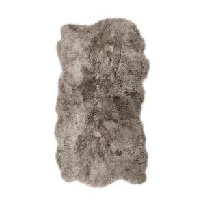 Beżowoszary dywan futrzany z krótkim włosiem Nardo, 170x110cm