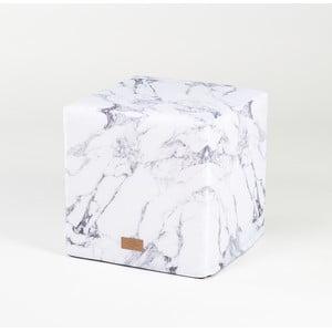Puf White Marble