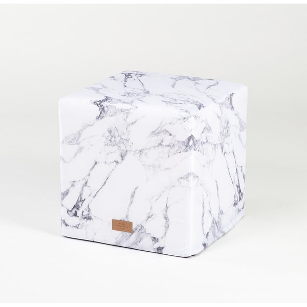Puf White Marble
