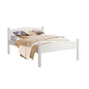 Białe łóżko z litego drewna sosnowego Støraa Barney, 140x200cm