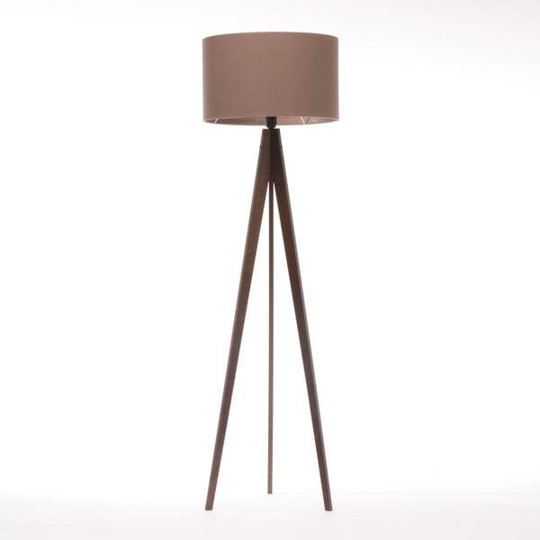 Brązowa lampa stojąca 4room Artist, brązowa lakierowana brzoza, 150 cm