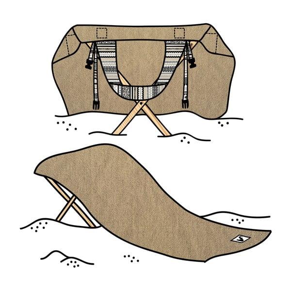 Leżak i ręcznik plażowy w jednym Sun Seat Sand Tribal