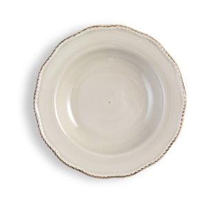 Średni kremowy talerz Brandani
