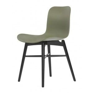 Zielone krzesło do jadalni NORR11 Langue Dark