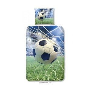 Dziecięca pościel jednoosobowa z czystej bawełny Good Morning Football Game, 140x200 cm
