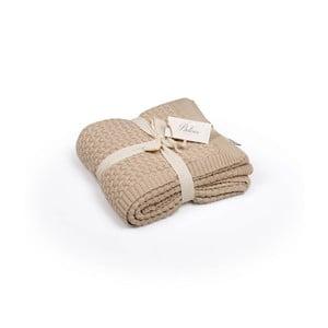 Brązowa narzuta bawełniana Kris, 130x170 cm