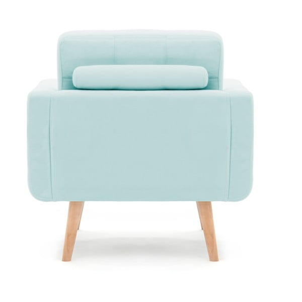 Pastelowo niebieski fotel VIVONITA Ina