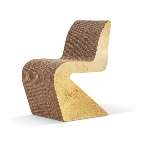Kartonowe krzesło Amanda Gold