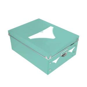Pudełko na bieliznę Turquoise Picto, 34,5x26cm