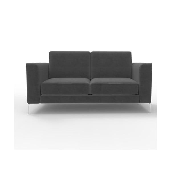 Sofa dwuosobowa Miura Munich, pokrycie czarne, zamszowe