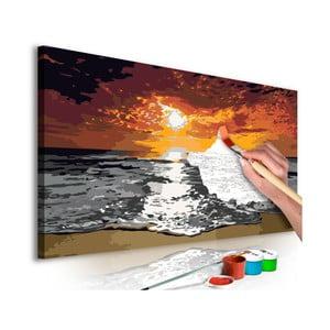 Zestaw płótna, farb i pędzli DIY Artgeist Flames Sky, 80x40 cm