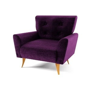 Fotel Lacoma, fioletowy