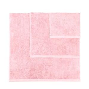 Komplet 3 jasnoróżowych ręczników Artex Alfa