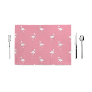 Różowa mata kuchenna Home de Bleu White Flamingos, 35x49cm