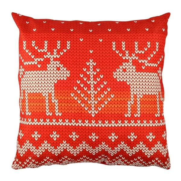 Poduszka z jeleniami Christmas Knitting