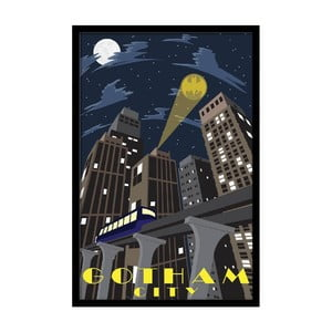 Plakat Gotham Night, 35x30 cm