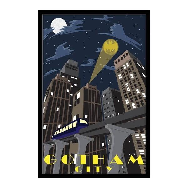 Plakat Gotham Night, 35x30 cm
