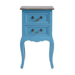 Niebieska szafka z drewna sosnowego z 2 szufladami Støraa Rianna
