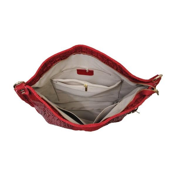 Czerwona torebka skórzana Andrea Cardone Edvige