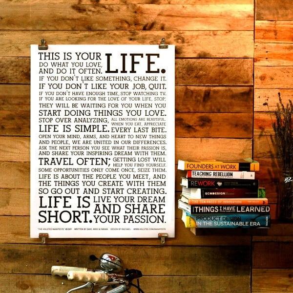 Plakat White Manifesto, 26x21 cm