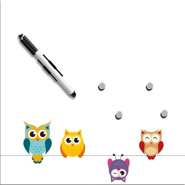 Tablica magnetyczna Eurographics Funny Owls, 30x30 cm