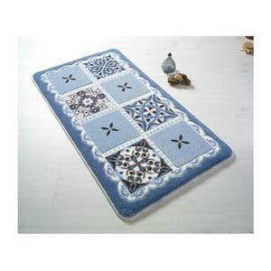 Niebieski dywanik łazienkowy Confetti Bathmats Ceramic, 80x140 cm