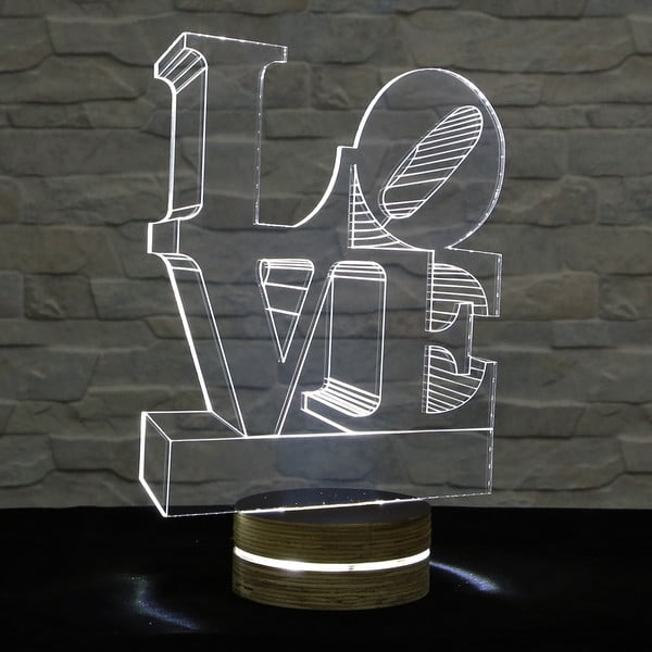Lampa 3D stołowa Love