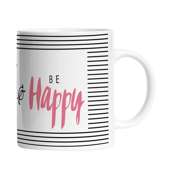 Ceramiczny kubek Think Happy, 330 ml