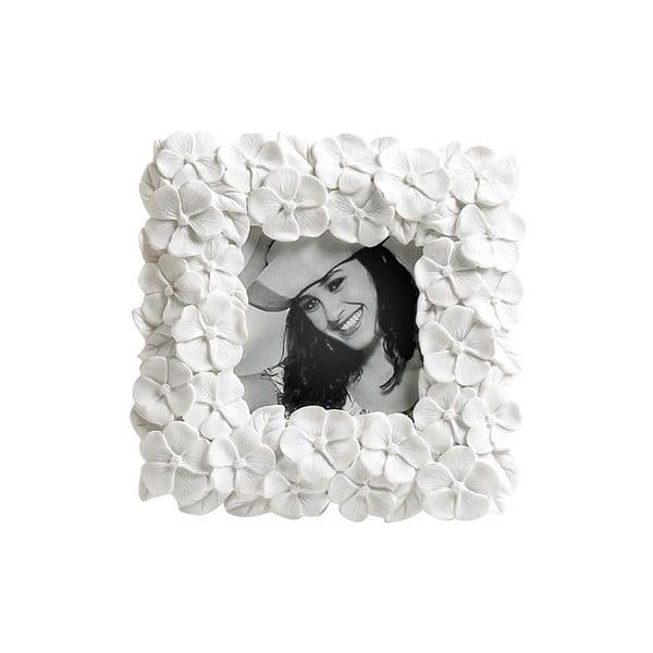 Ramka na zdjęcie Flower White, 13x13 cm
