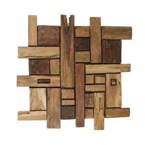Dekoracja ścienna z drewna tekowego HSM Collection Wade