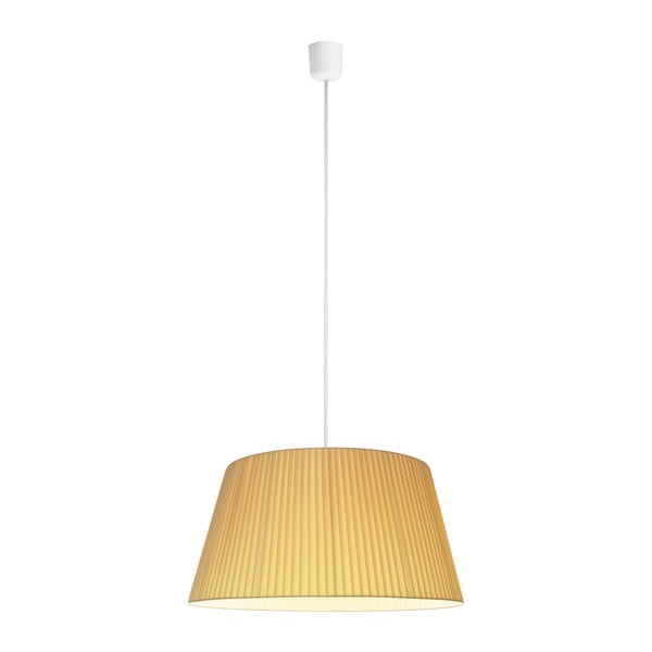 Kremowa lampa sufitowa Bulb Attack Dos Plisado XL