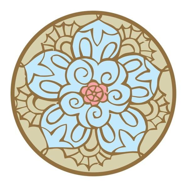 Naklejki Mandala, blue/beige, 4 szt