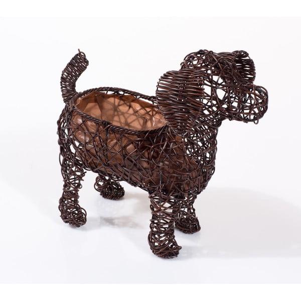 Dekoracyjna rattanowa doniczka Dog