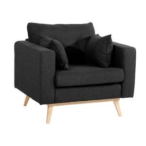 Czarny fotel Max Winzer Tomme