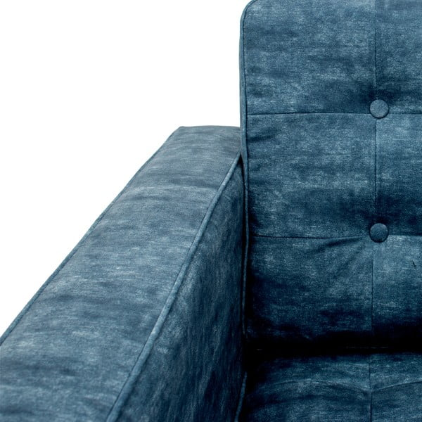 Fotel Ben, ciemnoniebieski