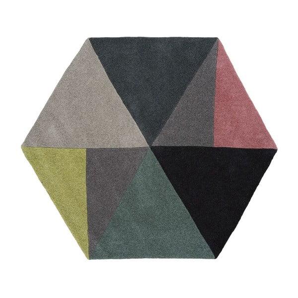 Wełniany dywan Sato Lime, 150x130 cm