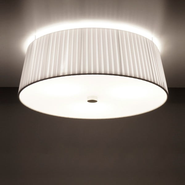 Biała  lampa Bulb sufitowa Attack Dos Plisado, ⌀ 36cm