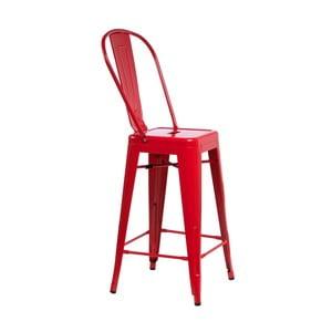 Czerwone krzesło barowe D2 Paris