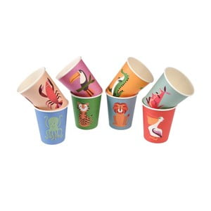 Zestaw 8 papierowych kubków Rex London Colourful Creatures