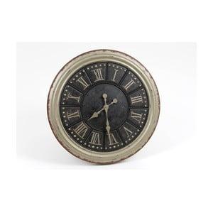 Zegar Silver Black Clock, 60 cm