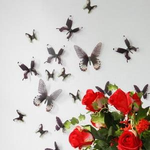 Naklejka Motyle 3D, czarne
