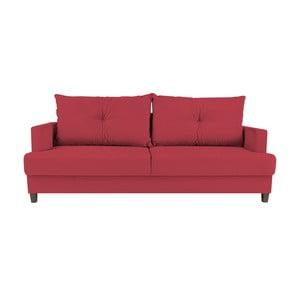 Czerwona 3-osobowa rozkładana sofa Melart Lorenzo