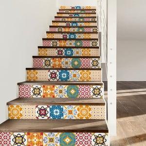 Komplet 2 naklejek na schody Ambiance Dola, 15x105 cm