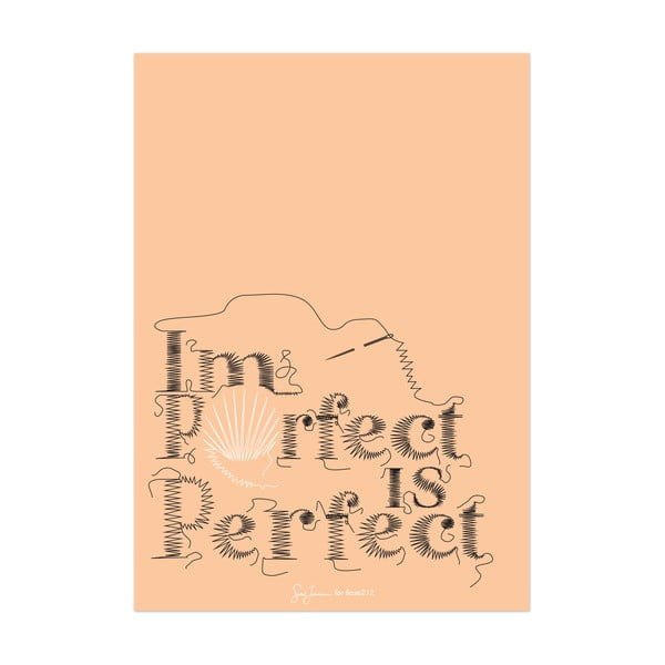 Plakat Imperfect is perfect