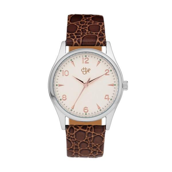 Zegarek z brązowym paskiem Cheapo Rodger