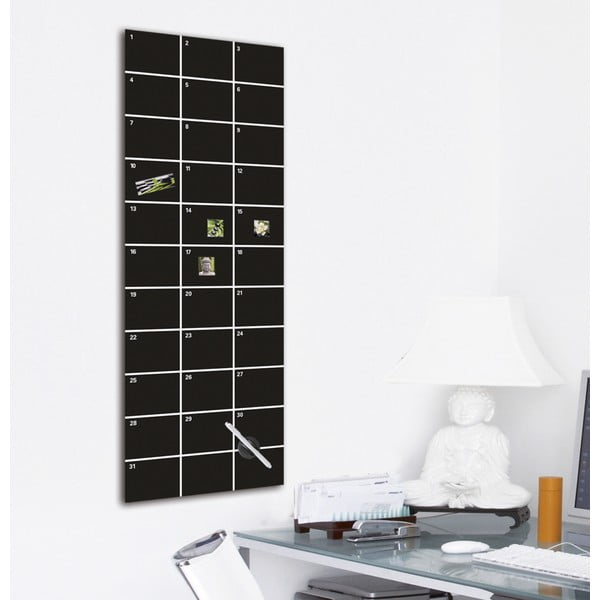 Tablica magnetyczna Eurographic My Month Black, 30x80 cm