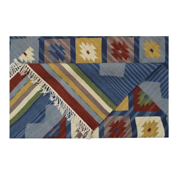 Ręcznie tkany dywan Kilim Classic K14 Blue, 125x185 cm