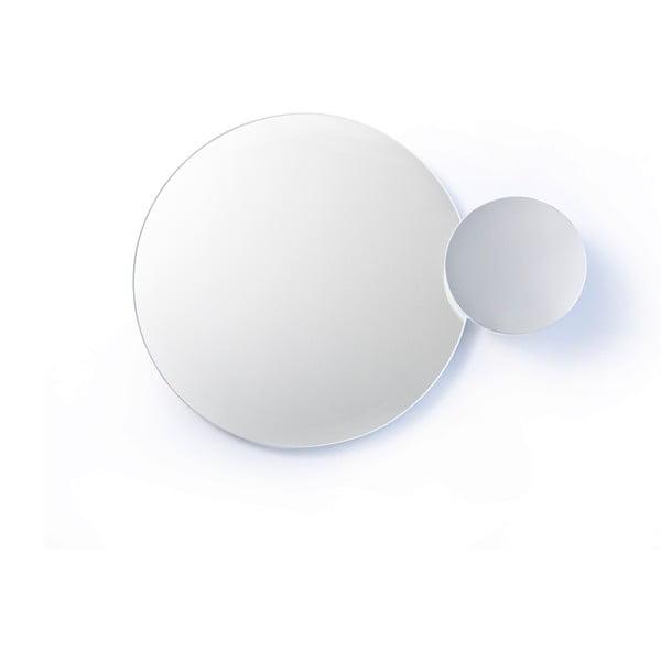 Białe podwójne lustro naścienne Wireworks Eclipse