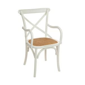 Białe krzesło drewniane Santiago Pons Manolo